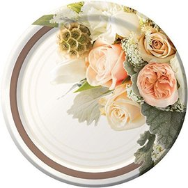 Plates-DN-Rose Gold Bouquet-8pk-Paper - Discontinued