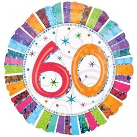 Foil Balloon - 60 Radiant Birthday - 18""
