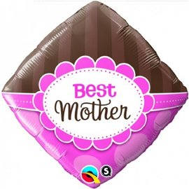 Foil Balloon - Pink and Brown Best Mother - 18""