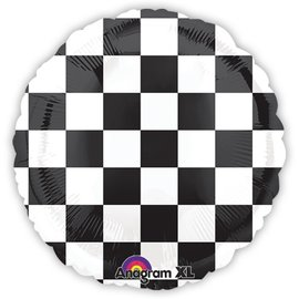 Foil Balloon - Race Car Flag - 18""