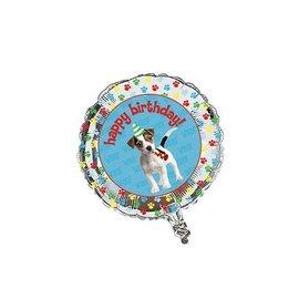 "Foil Balloon - Paw-ty Time Happy Birthday - 18"""