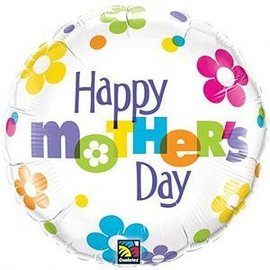 Foil Balloon - Happy Mother's Day Fun Flowers - 18""