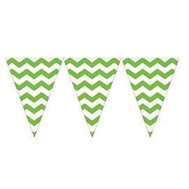 Flag Banner-Celebrate Chevron Fresh Lime-Plastic-9ft