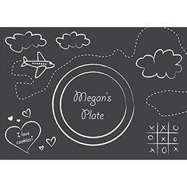 Paper Placemats-Chalkboard-w/ 8 Chalks-9.5''x13.375''-8pk