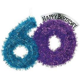 Tinsel Dec-Party Continues 60 Bday-Foil-14''x10''