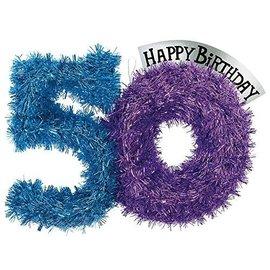 Tinsel Dec-Party continues 50 Bday-Foil-14''x10''