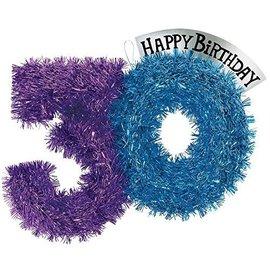 Tinsel Dec-Party Continues 30 Bday-Foil-14''x10''