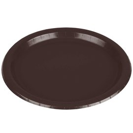 Plates-LN-Chocolate Brown-24pkg-Paper