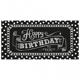 "Banner-Happy Birthday Chalkboard-1pkg-33.5""x65"""