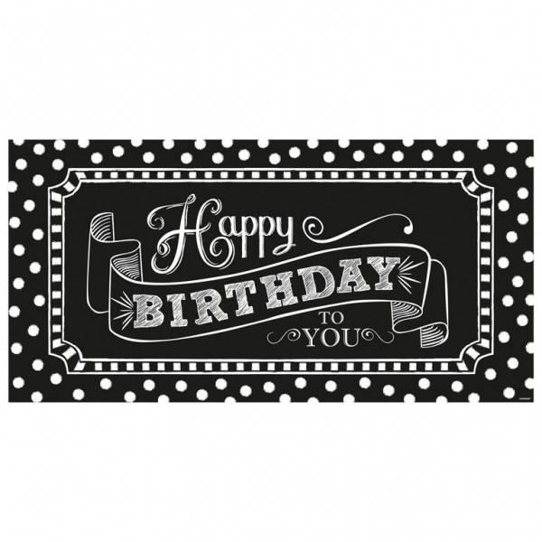 Banner Happy Birthday Chalkboard 1pkg 335x65