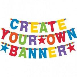Letter Banner Kit-Customizable-1pkg-84pcs