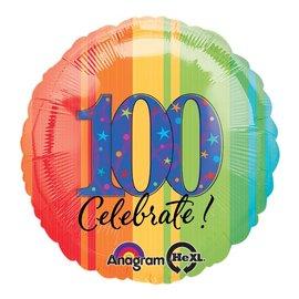 """Foil Balloon - Celebrate 100 - 18"""""""