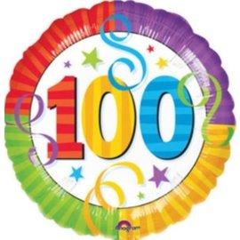 "Foil Balloon - 100th Birthday Streamers - 18"""