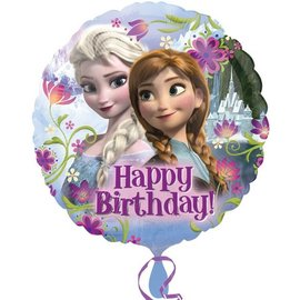 Foil Balloon - Frozen Happy Birthday - 18""