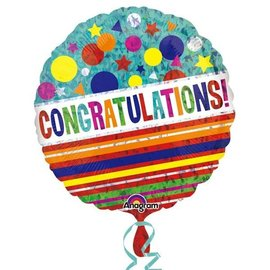 """Foil Balloon - Congratulations Sparkle - 18"""""""