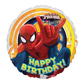 Foil Balloon - Spiderman Happy Birthday - 18""