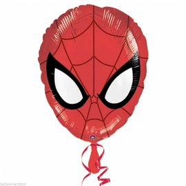 "Foil Balloon - Spiderman Face - 17""x12"""