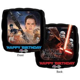 Foil Balloon - Star Wars Happy Birthday - 18""