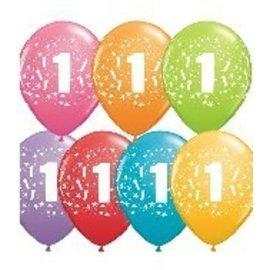 "Latex Balloon-#1 Stars Assortment-1pkg-11"""