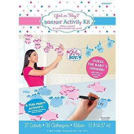 Baby Shower - Boy or Girl Banner Activity-15ft