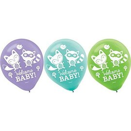 """Baby Shower - Balloons - Latex - 15pcs - 12"""" -  Woodland Welcome"""