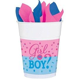 16oz Cups - Baby Shower - Gender Reveal - 25pcs
