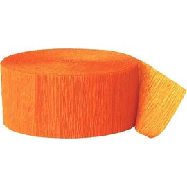 Paper Crepe Streamers - Orange Peel - 500ft