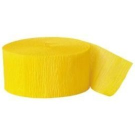Paper Crepe Streamers - Yellow Sunshine - 500ftx1.7in