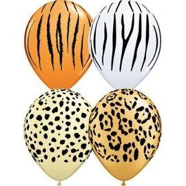 "Latex Balloons - Safari Assorted - 11"""