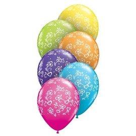 "Latex Balloons - Dainty Hearts - A -Round - 11"""