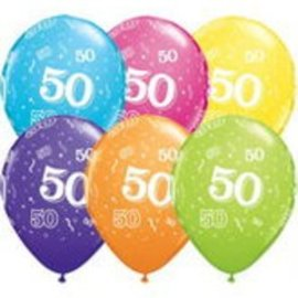 Latex Balloon-50 A Round Assortment-11""