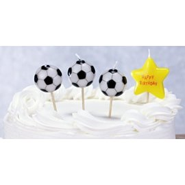Candles - Soccer Birthday Candles - 6pc