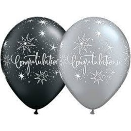 Latex Balloon-Congratulations Elegant Assortment-1pkg-11""