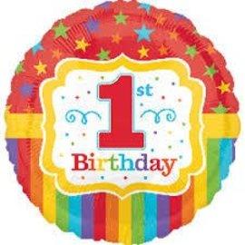 """Foil Balloon - 1st Birthday - 17"""""""