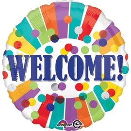 """Foil Balloon - Welcome - 17"""""""