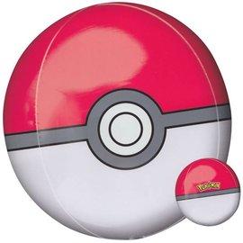 "Foil Balloon - Pokemon Pokeball - 15"" X 16"""