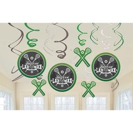 Swirl Decorations - Lacrosse - 12pc