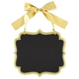 Chalkboard-Gold Glitter Sign