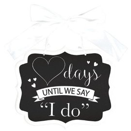 Chalkboard-Personalized I Do Sign