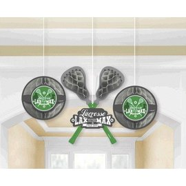 Honeycomb Decorations-Lacrosse (3pc)