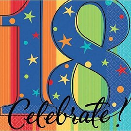 Napkins-BEV-18th Bday Celebration-16pk-2ply