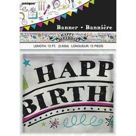 Banner- Doodle Birthday Foil