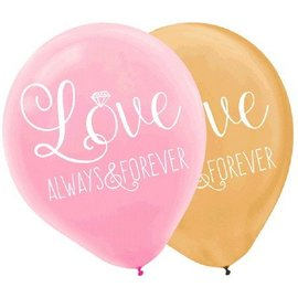 Latex Balloons-Love Always and Forever