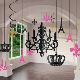 Glitter Chandelier Decorating Kit - 17 Pieces