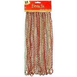 Beads - Red, Orange, Green-30in-24pk