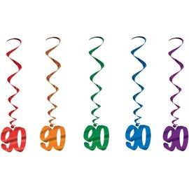 "Danglers-Metallic Swirl-90th Celebration-5pkg-40"""