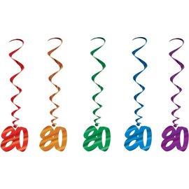 "Danglers-Metallic Swirl-80th Celebration-5pkg-40"""