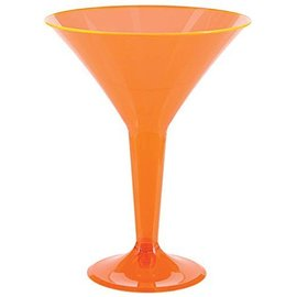 Glasses-Martini-Neon assorted-Plastic-8oz-20pk