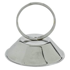 """Placecard Holder-Silver-Metal-2.25"""""""