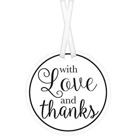 Tags-With Love And Thanks-White-25pk/2''
